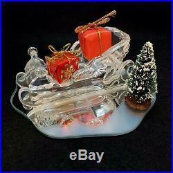 RARE Retired Swarovski Crystal Sleigh with Mirror Presents Tree 205165 Christmas
