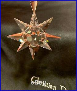 RARE SWAROVSKI CRYSTAL 1991 CHRISTMAS TREE SNOWFLAKE ORNAMENT 1st SERIES HTF BOX