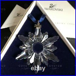 RARE Swarovski 1998 Christmas Snowflake Ornament 220037 Mint Boxed Retired