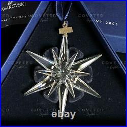 RARE Swarovski 2005 Christmas Snowflake Ornament 680502 Mint Boxed Retired