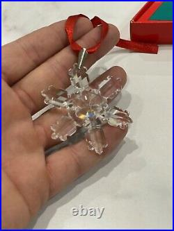 RARE! Swarovski Christmas Ornament Crystal Holiday 1992 With Box and Card