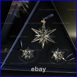 RARE Swarovski Crystal 2005 Annual Edition Snowflake Ornament Set 842602 Xmas