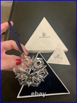 RARE Vintage 1999 Swarovski Austrian Crystal Snowflake Christmas Ornament