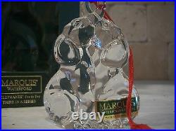 RARE Waterford MARQUIS CRYSTAL Noahs Ark ELEPHANTS 3RD in Series MINT IN BOX