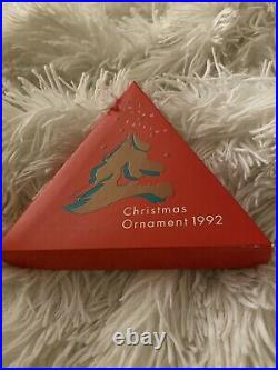 Rare 1992 Swarovski Crystal Christmas Holiday Ornament Box, COA Never Displayed