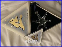 Rare 1993 SWAROVSKI CHRISTMAS ORNAMENT W Box COA excellent Cond. Never Displayed