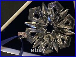 Rare 1999 SWAROVSKI CRYSTAL CHRISTMAS HOLIDAY ORNAMENT, Excellent Cond. Box COA
