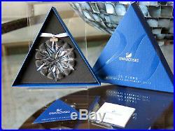 Rare 2011 Swarovski Crystal Snowflake Christmas 20 Year Edition Ornament New
