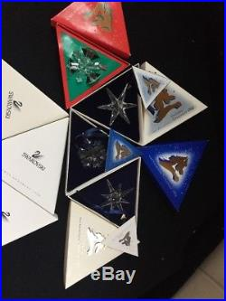 Rare Collection Swarovski Crystal Christmas Ornaments 1992 To 2003 Mint In Box