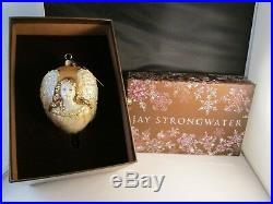 Rare Jay Strongwater Large Angel Christmas Ornament MIB with Swarovski Crystals
