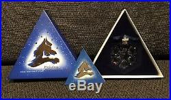 Rare Retired 1994 Swarovski Crystal Snowflake Christmas Ornament Mint in Box
