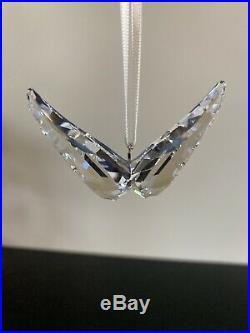 Rare Swarovski Angel Wings Clear Crystal 5004494 Christmas Ornament