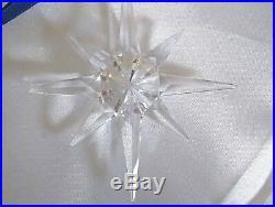 Rare Swarovski Crystal Holiday Christmas Ornament 1995 DAMAGED with box See Desc