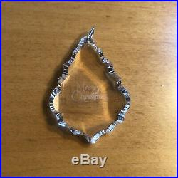 Rare Swarovski Crystal The Giftware Suite Merry Christmas Ornament