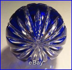Rare Waterford Crystal Cobalt Blue Ball Christmas Tree Ornament