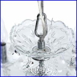 Ridgeyard Modern 10 Arms Clear Crystal Chandelier Room Decoration Pendant Light