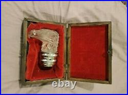Rolls Royce Phantom II 2 Lalique Eagle Head Hood Ornament Radiator Cap with case
