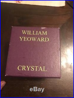 SIGNED WILLIAM YEOWARD CRYSTAL CHRISTMAS ORNAMENT 1999 with Newman Marcus Box