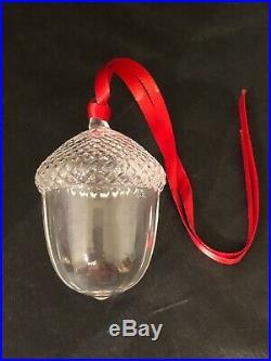 STEUBEN GLASS Christmas Ornament ACORN VINTAGE