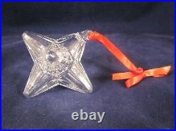 STEUBEN GLASS Christmas Ornament STAR Jack Shaped EXCELLENT in BOX