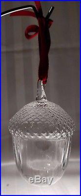 STEUBEN Glass ACORN Crystal Christmas Ornament Rare Holiday Gift Present w Box
