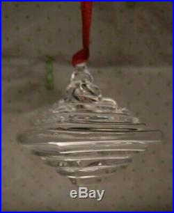 STEUBEN Glass LANTERN Crystal Christmas Ornament Excellent Condition with Box