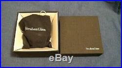STEUBEN Glass PRESENT HOLIDAY GIFT BOX Rare Crystal Christmas Ornament w bag