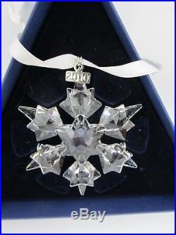 SWAROVSKI 2010 Annual Crystal Snowflake Christmas Ornament MINT in Original Box
