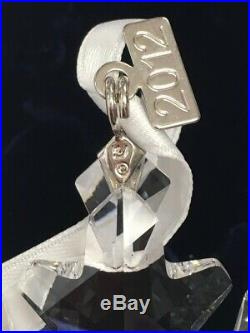 SWAROVSKI 2012 Crystal 3Snowflake Christmas Ornament in Original Box MINT B2102