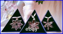 SWAROVSKI 2013, 2014, and 2015 ANNUAL LARGE STAR ORNAMENTS, NEW