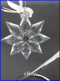 SWAROVSKI 2013 Annual Crystal Snowflake Christmas Ornament MINT in Original Box