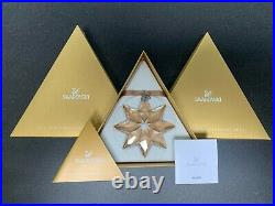 SWAROVSKI 2013 large SCS annual golden shadow snowflake ornament new in box