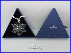 SWAROVSKI 2014 Annual Crystal Snowflake Christmas Ornament MINT in Original Box