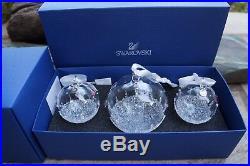 SWAROVSKI 5268012 CHRISTMAS BALL ORNAMENT SET, ANNUAL EDITION 2017 NIB Authentic