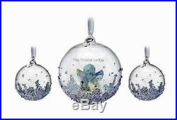 SWAROVSKI CHRISTMAS 2015 BALL SET (1xLGE, 2xSML) 5136414 MINT BOXED RETIRED RARE