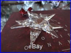 SWAROVSKI CRYSTAL 1991 SNOWFLAKE Christmas Ornament in original BOX