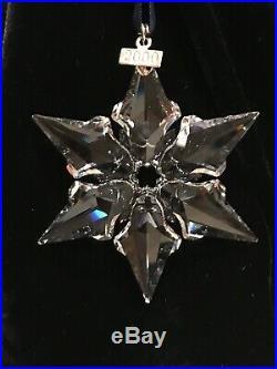 SWAROVSKI CRYSTAL CHRISTMAS ORNAMENT 2000 IN ORIGINAL BOX, COA Mint