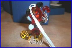 SWAROVSKI CRYSTAL MICKEY MOUSE Christmas Ornament NIB 5412847 Retail $239