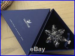 SWAROVSKI CRYSTAL SNOWFLAKE ORNAMENTS 2005, 2006, 2007, 2008 original boxes XMAS