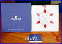 SWAROVSKI Christmas Holiday Ornament 2010 Red Tips USA exclusive 1074802 BNIB