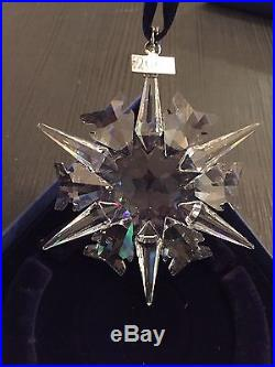 Swarovski Christmas Ornament 2002 Snowflake Crystal Mib