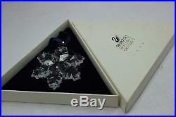 SWAROVSKI Crystal 1996 Annual STAR / SNOWFLAKE Christmas Ornament MIB Free Ship