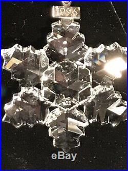 SWAROVSKI Crystal 1996 CHRISTMAS HOLIDAY ORNAMENT in box w COA, mint