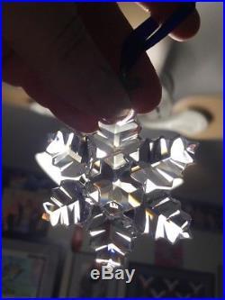 SWAROVSKI Crystal 1996 Christmas Ornament 9445 960 001 Snowflake 206197 Star