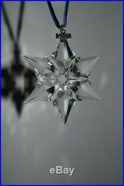SWAROVSKI Crystal 2000 Large Star Snowflake Christmas Ornament In Box RARE