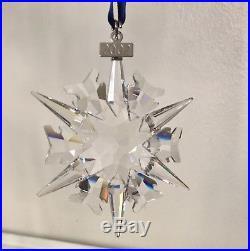 SWAROVSKI Crystal 2002 CHRISTMAS ORNAMENT Snowflake 288802 MIB retired rare