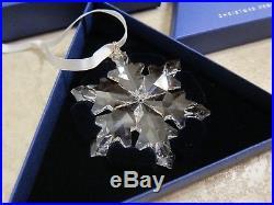 SWAROVSKI Crystal 2012 Annual Large Snowflake Star Christmas Ornament Mint