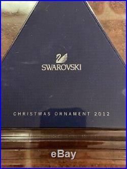SWAROVSKI Crystal 2012 Annual Large Snowflake Star Christmas Ornament Mint & NEW