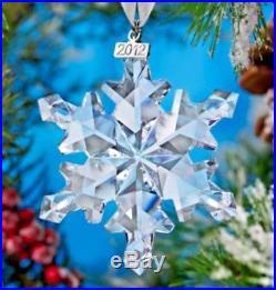 SWAROVSKI Crystal 2012 Annual Large Snowflake Star Christmas Ornament Mint & NIB