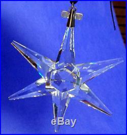 SWAROVSKI Crystal ANNUAL EDITION 1993 LARGE Snowflake Star Christmas Ornament